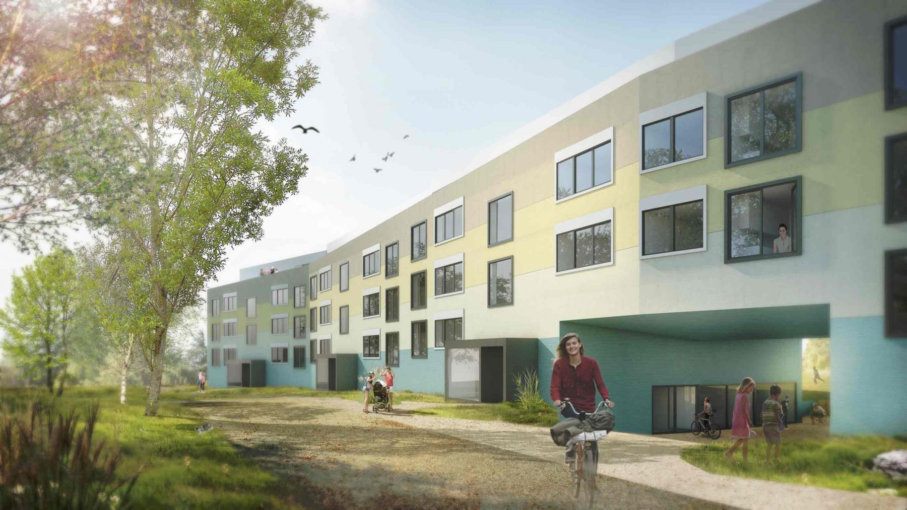 Projet de construction de logements au chemin des Tuilots à Bellevue 1er rang BCR Architectes