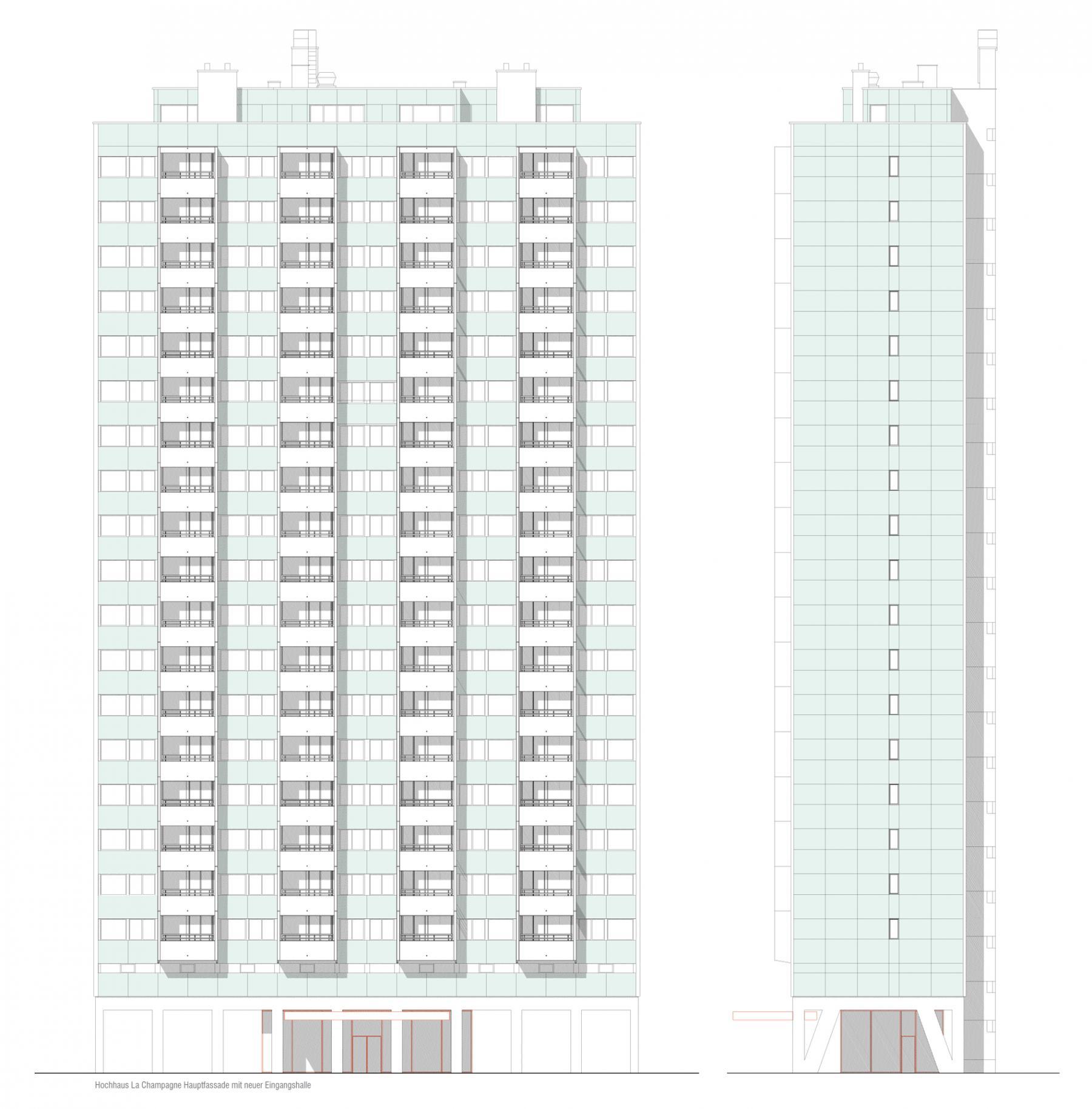 Sanierung Hochhaus La Champagne Biel Weiterempfehlung Graser Architekten