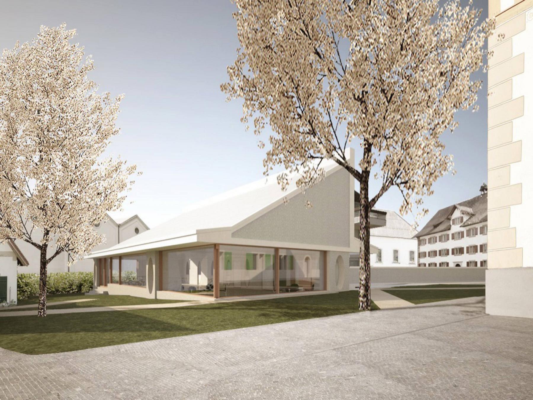 Umbau des alten Pfarrhauses und Neubau eines Kirchgemeindesaals Rüti ZH, ARGE Joos & Mathys Architekten AG | Daniel Nyffeler Architekten