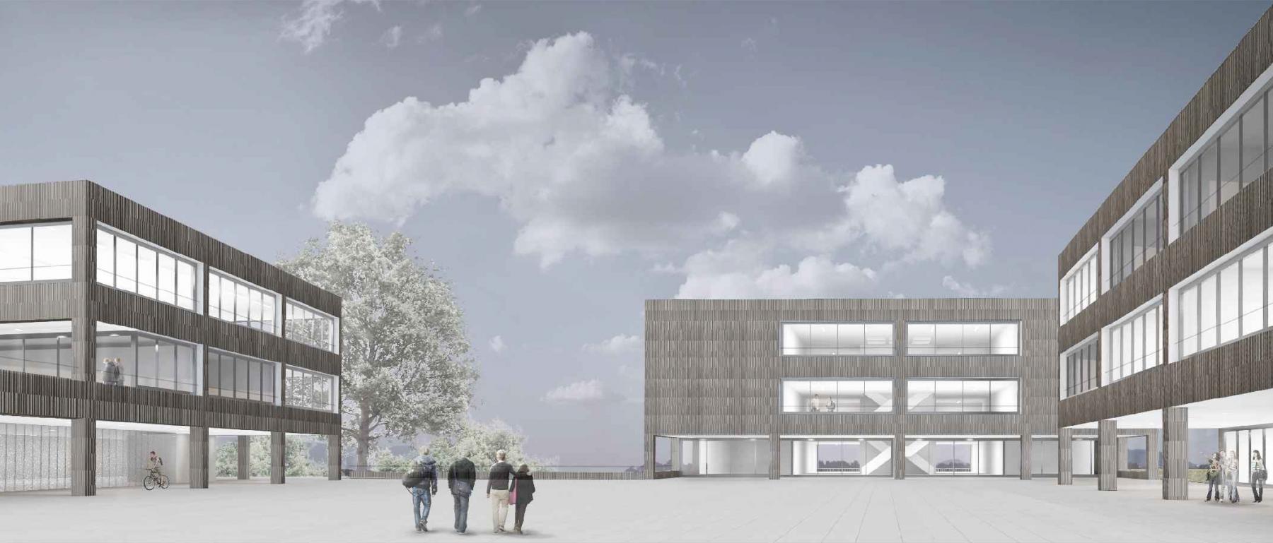 Transformation et agrandissement du Cycle d'Orientation de la Veveyse, Châtel-St-Denis, d4 atelier d'architecture, projet lauréat CROCSOR