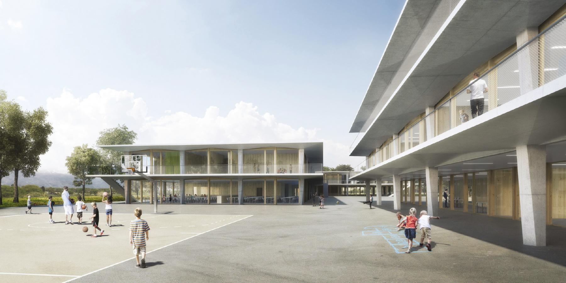 Equipements publics de l'Ecoquartier les Vergers, Meyrin, Widmann architectes, NIRWANA