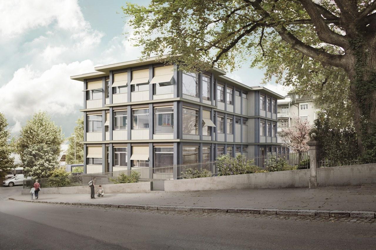 Neubau Basisstufen und Tagesschule Länggasse/Depotstrasse, Bern, nuak, Villa Kunterbunt
