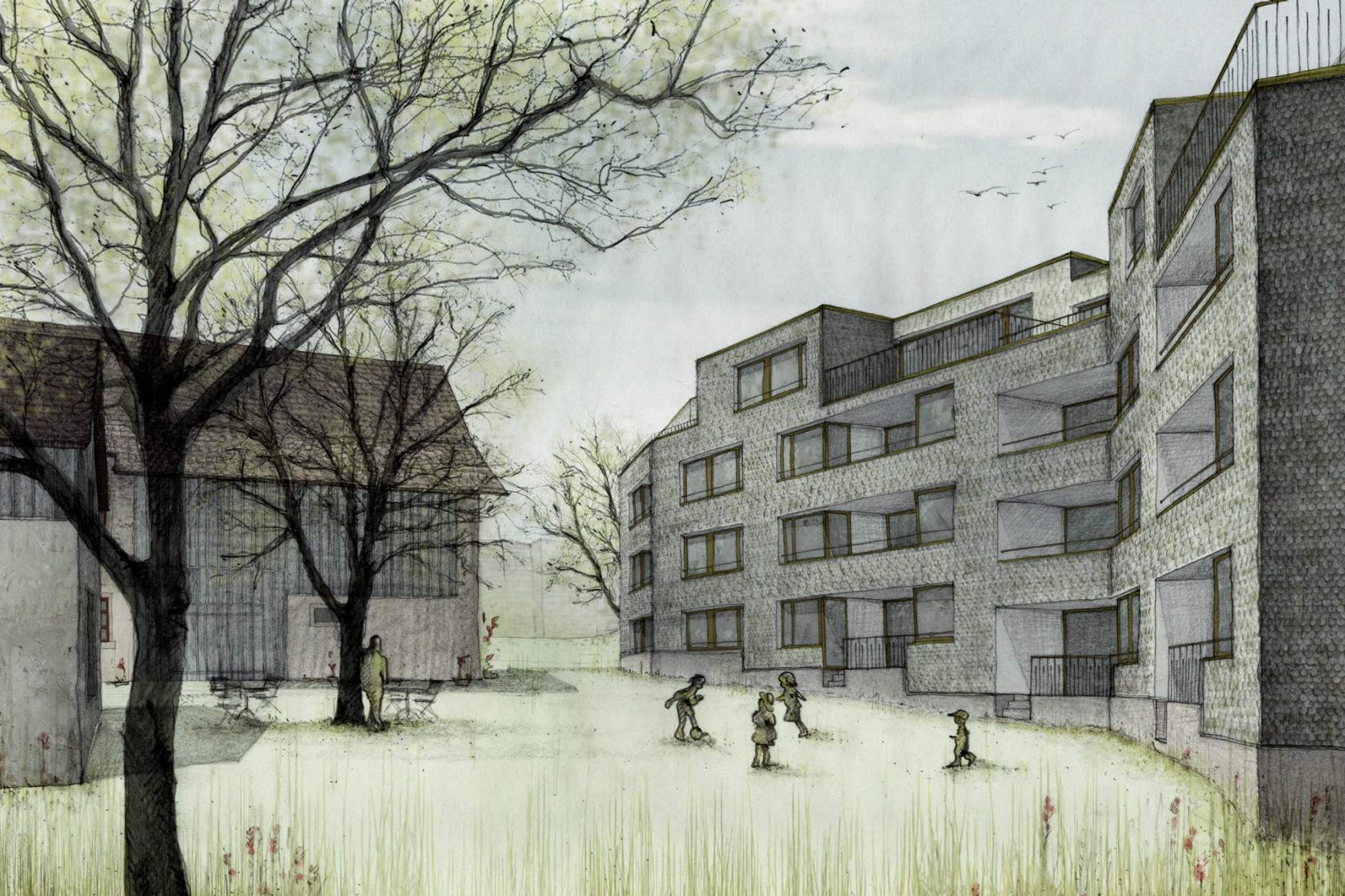 Neubau Wohnhäuser Schneebeliweg Zürich-Altstetten Haltmeier Kister Architektur FRIDOLIN