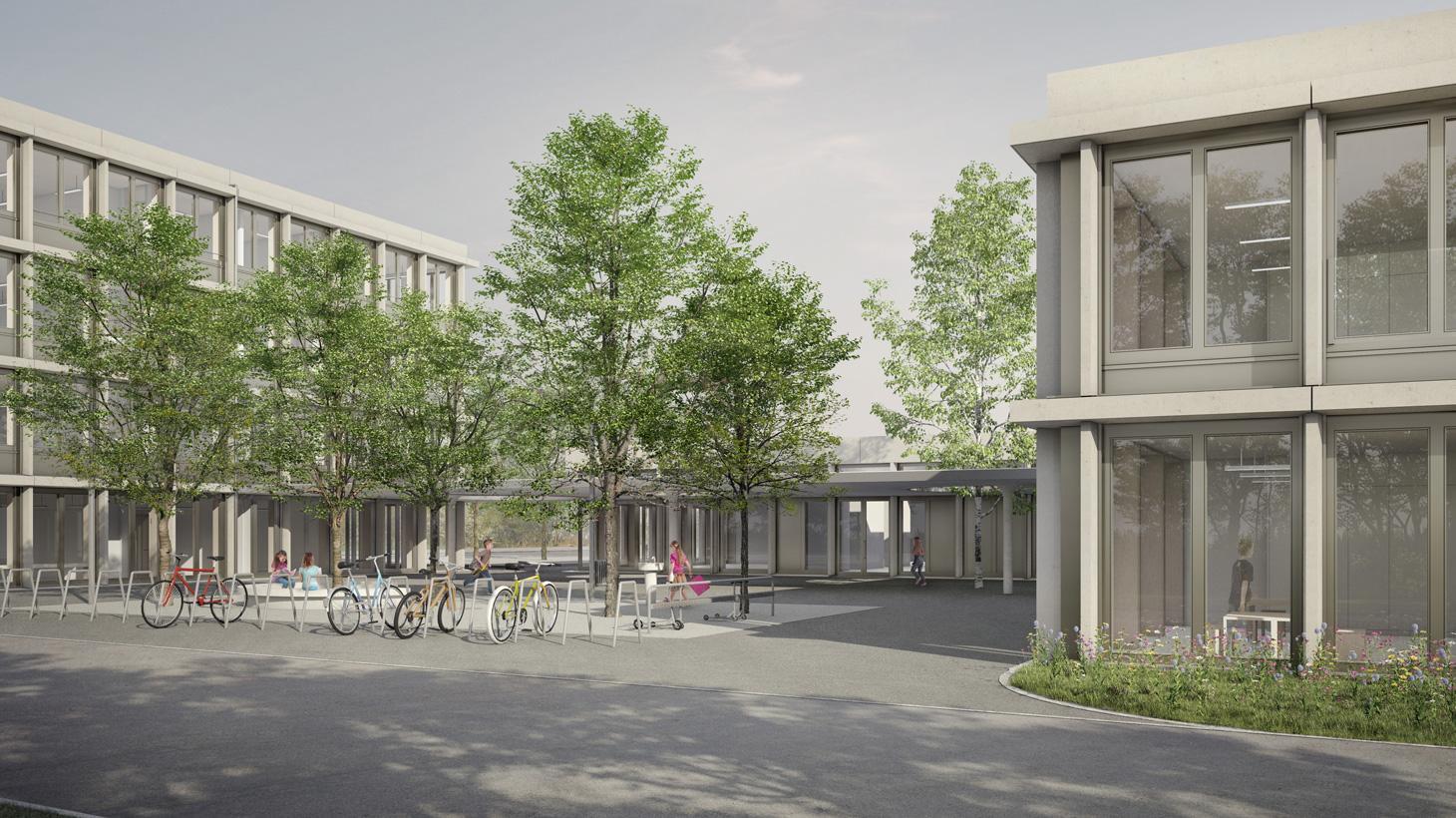 Projektwettbewerb Schulhaus Dietlimoos, Adliswil, Planergemeinschaft ADL, Kuhlbrodt & Peters Architekten