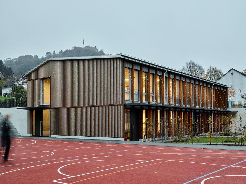Schule Kindergarten Turnhalle in Stettfurt Team Dahinden Heim Architekten quartett 1