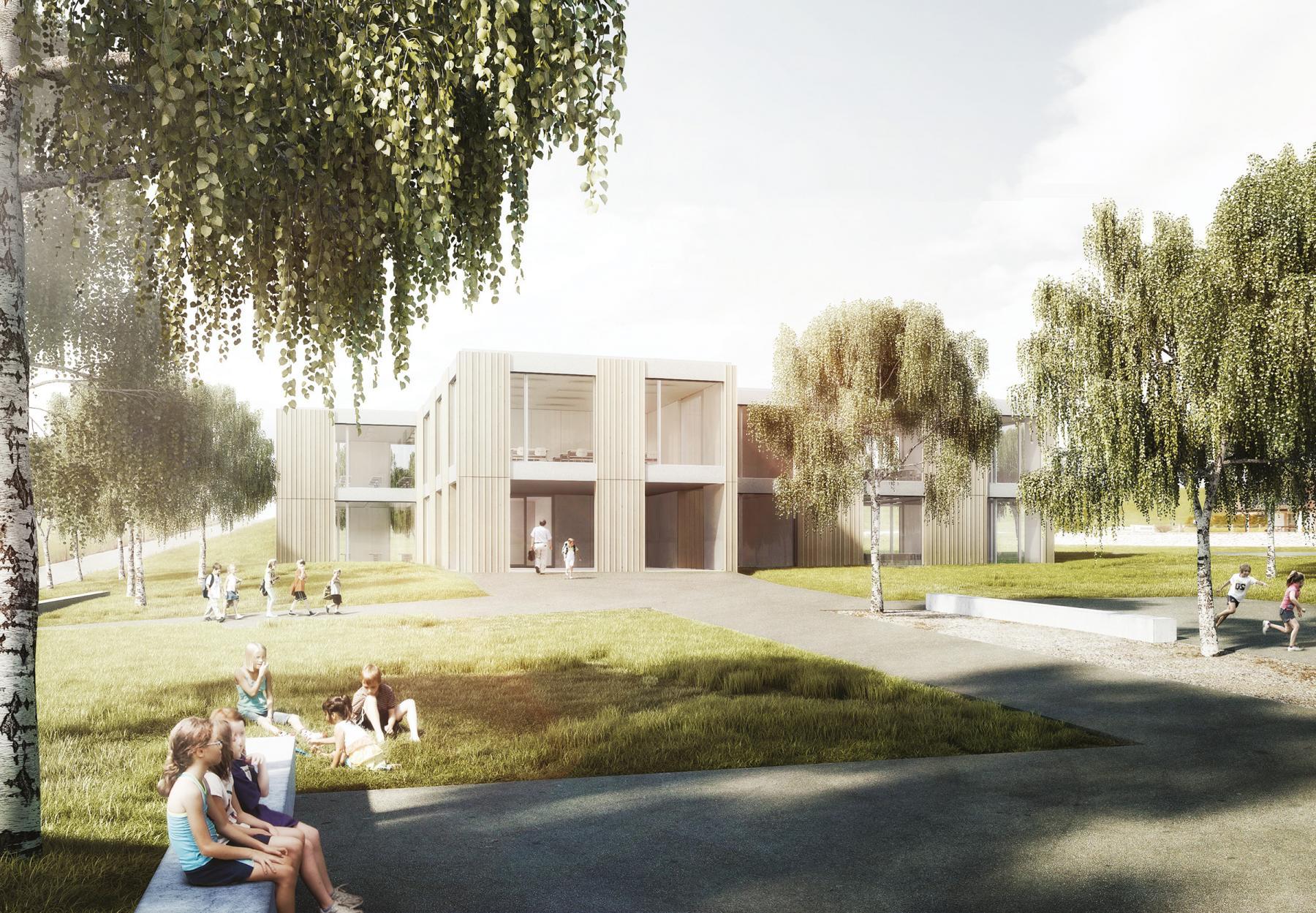 Nouvelle école à Vaulruz, WIDMANN FRÖHLICH ARCHITECTES, PAQUERETTE