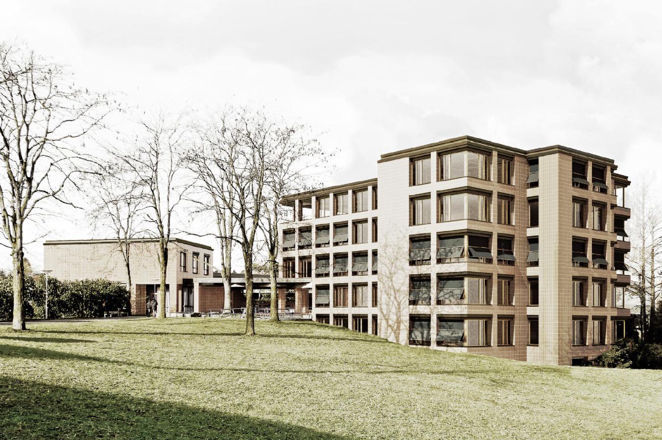 Sanierung und Erweiterung der Schulanlage Röhrliberg, Cham, Marcel Baumgartner Architekt, Assemblage