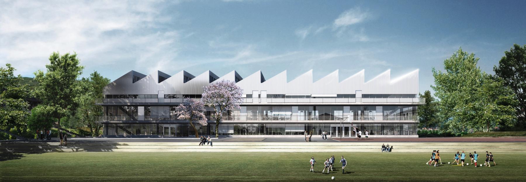 Neubau Sekundarschule Laufen, ARGE Thomas Fischer Architekten + Confirm Atelier, Himmelslicht