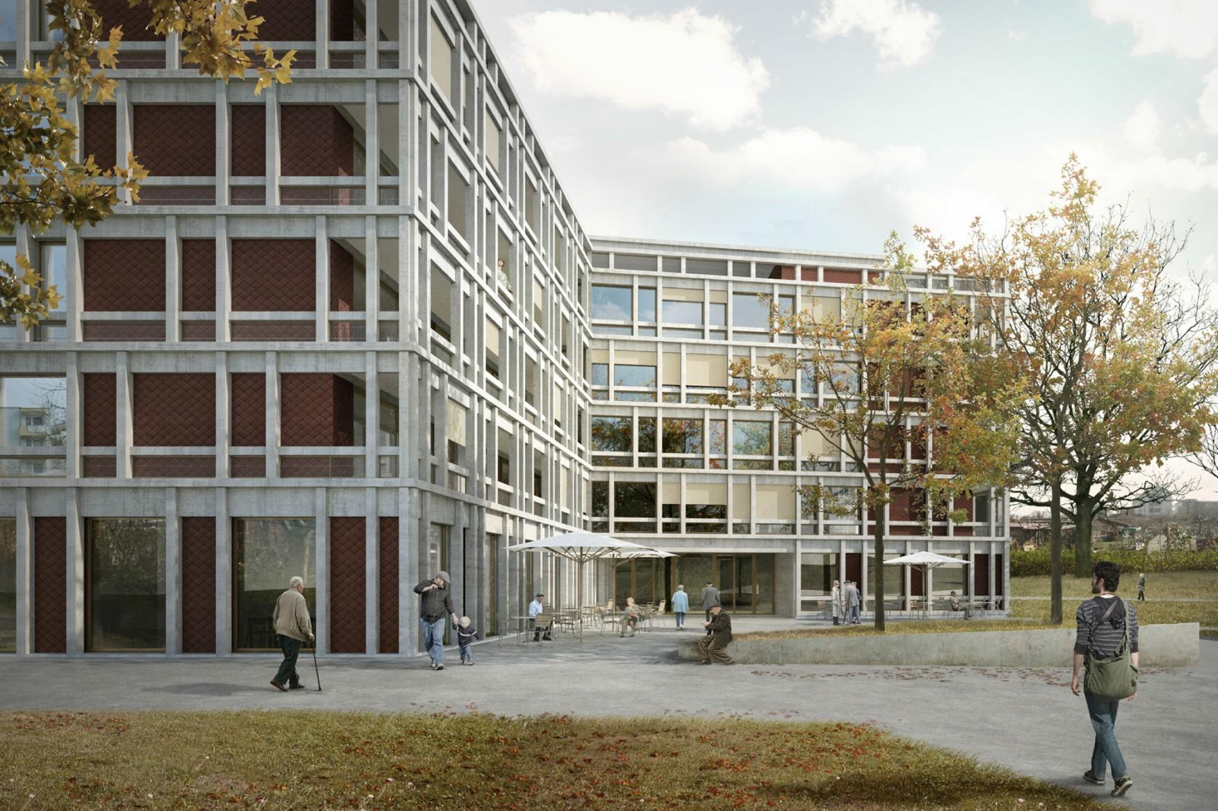 Alterszentrum Mathysweg, Zürich, Allemann Bauer Eigenmann Architekten, farfalla