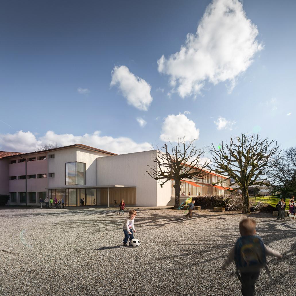 Erweiterung Schulanlage mit Mehrzweckhalle Oberdiessbach, Campanile & Michetti Architekten