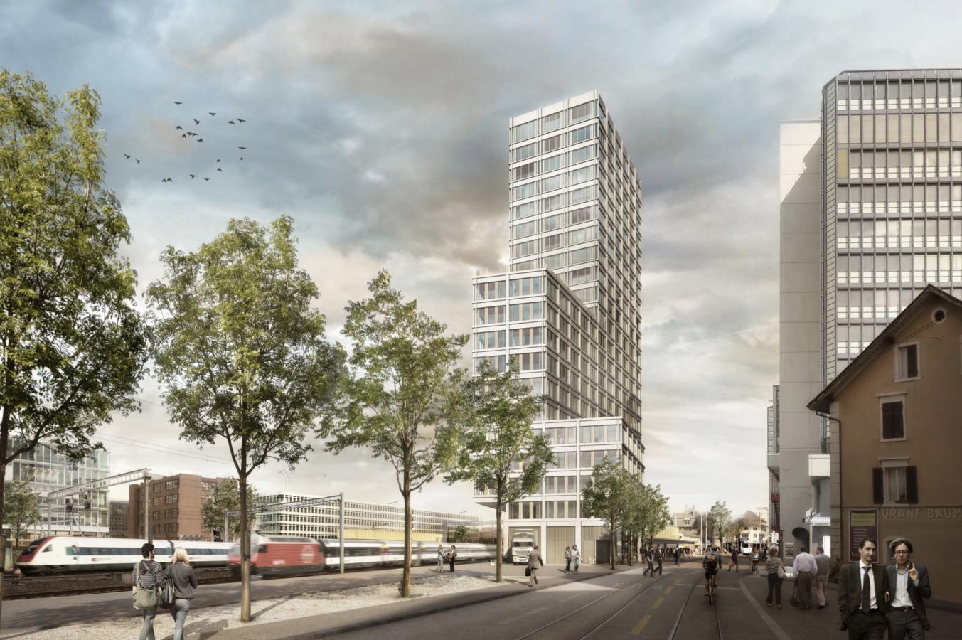 Hochhaus Südwest Mitte (Franklinturm), Zürich-Oerlikon, Armon Semadeni Architekten, Aline