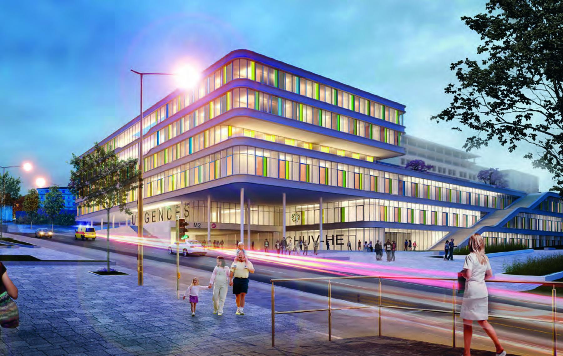 Hôpital des enfants, Centre hospitalier universitaire vaudois (CHUV), Lausanne, GMP + JB FERRARI