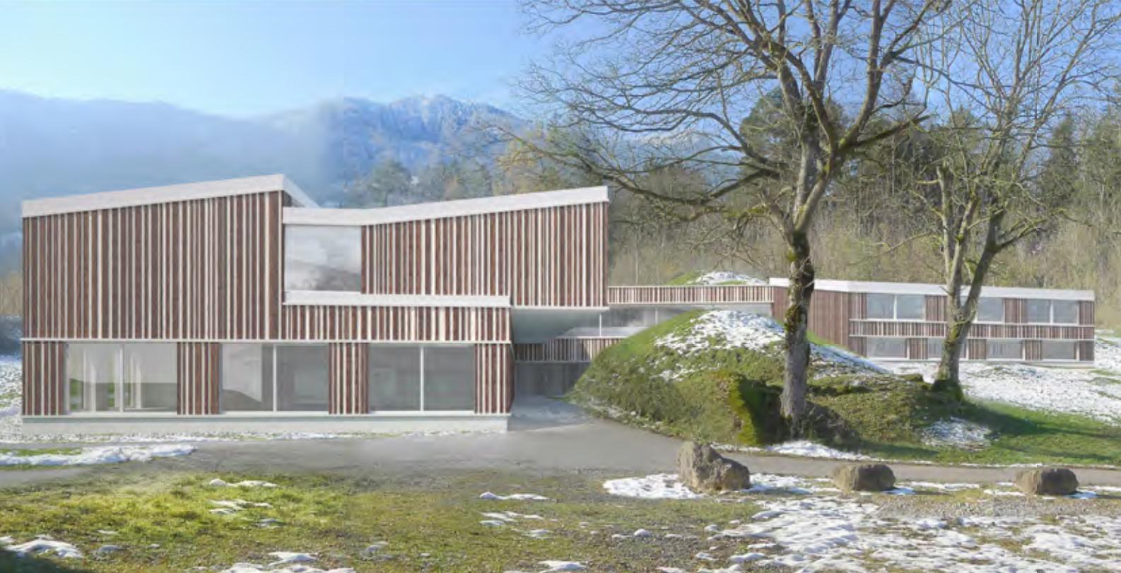 Neubau Heilpädagogische Schule Innerschwyz, Goldau, Marques, ALPENSTEINBOCK