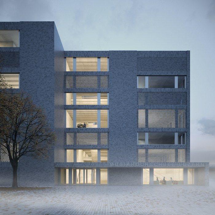 Neubau Hochschule Luzern – Musik, ARGE Enzmann Fischer & Büro Konstrukt, echea