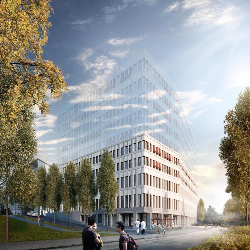 Neubau für Organzentrum, Inselspital Bern, Baufeld 6 aus dem Masterplan, Schneider & Schneider Architekten, Bellini
