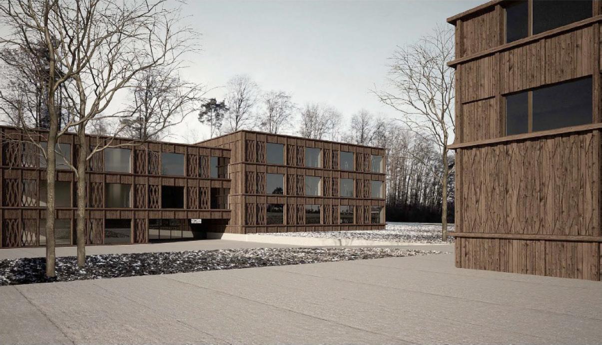 Nouveau centre scolaire, Granges-Paccot, Oeschger Schermesser Architekten, EN BOIS