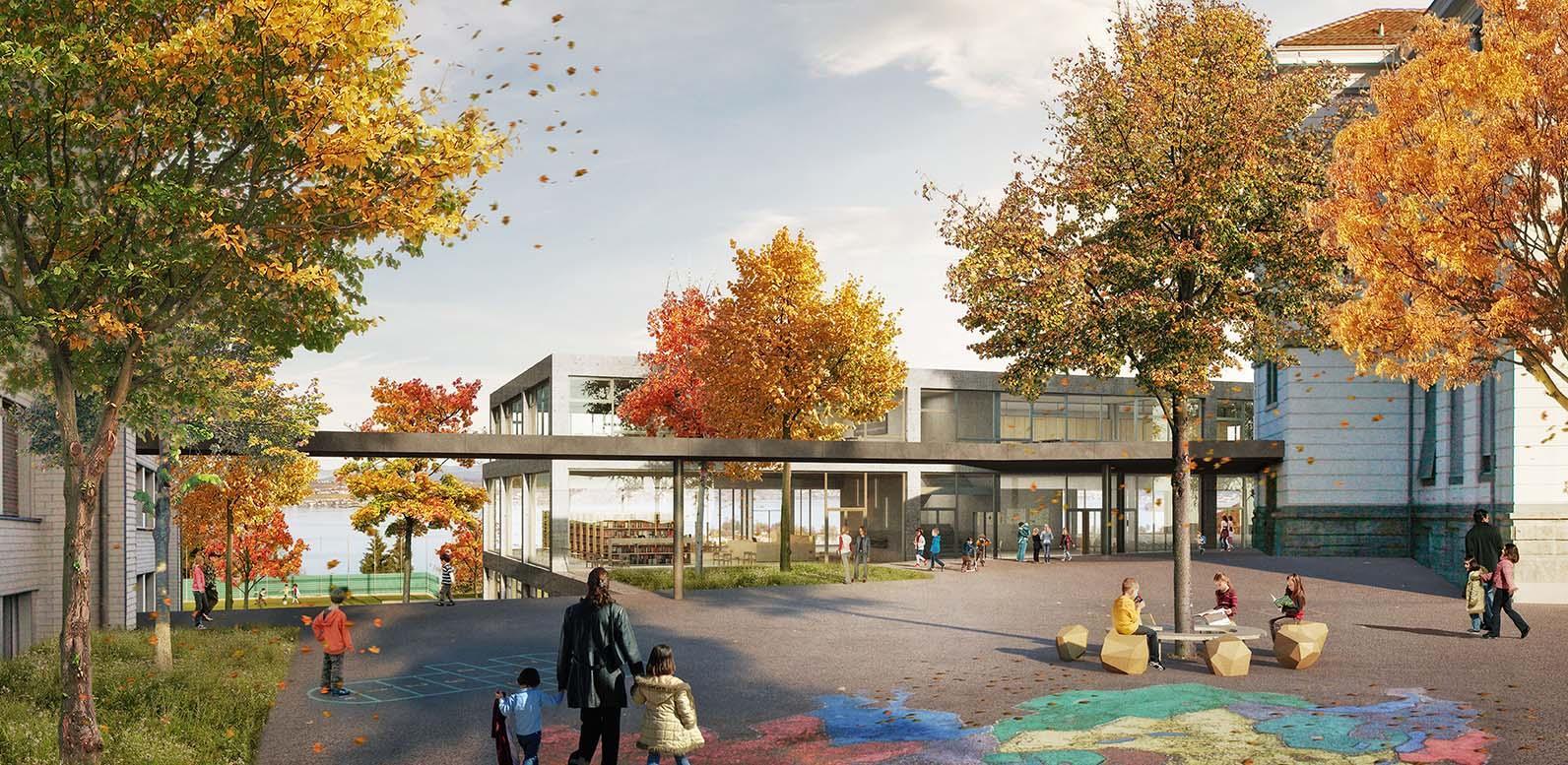 Bildungs- und Begegnungszentrum Wollerau, Derendinger Jaillard Architekten, HAiKu