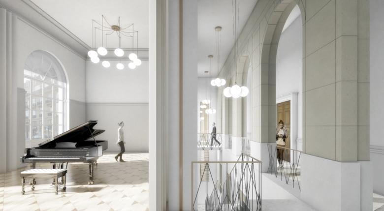 Conservatoire de musique, Genève, bâtiment classé monument historique, restauration et extension, G. M. Architectes Associés, TRACE-ÉCART