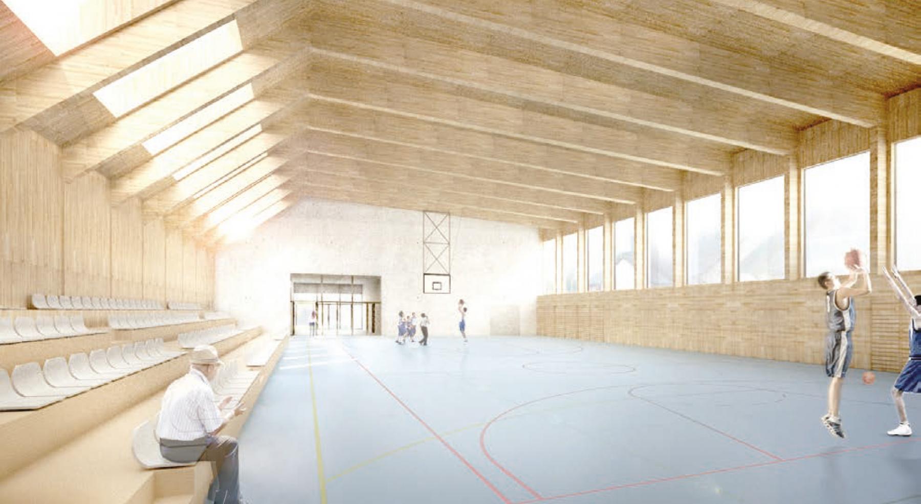 Salle à usage multiple, logements protégés, centrale de chauffe, Léchelles, Joud & Vergély Architectes, La grange au pré