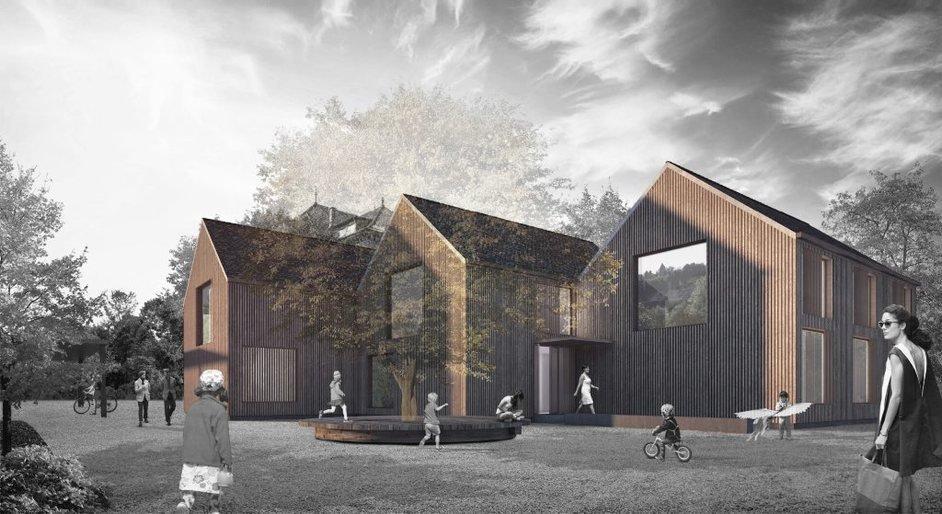Agrandissement de l'école primaire de la Neuveville, Marc Zamparo Architectes, Kull Landschaft, GRANEUM