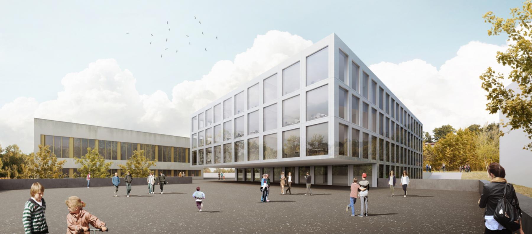 Nouvelle construction scolaire, Collège Croset-Parc, Ecublens, Bonnard Woeffray architectes, WIKIMINI