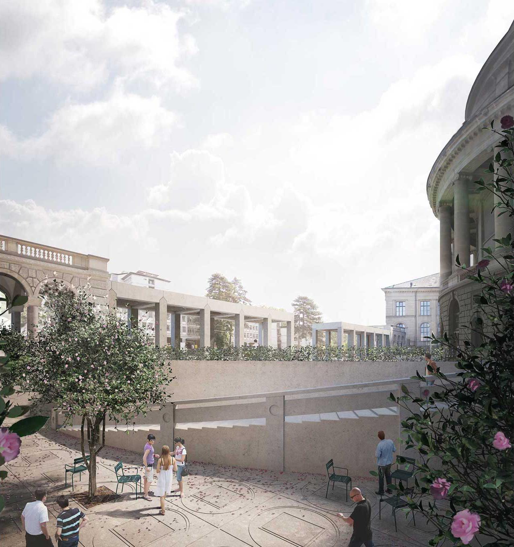 Sanierung ETH Hauptgebäude Vorplatz und Rämihofgarage, Boltshauser Architekten, KAMELIENDAME