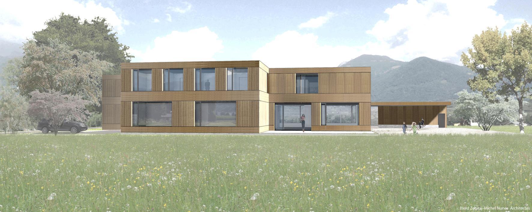 Construction d'un foyer d'accueil pour 14 enfants ou adolescents en âge de scolarité à Collombey-le-Grand, Blerd Zeqiraj et Michel Nunes Architectes, A L'ABORDAGE