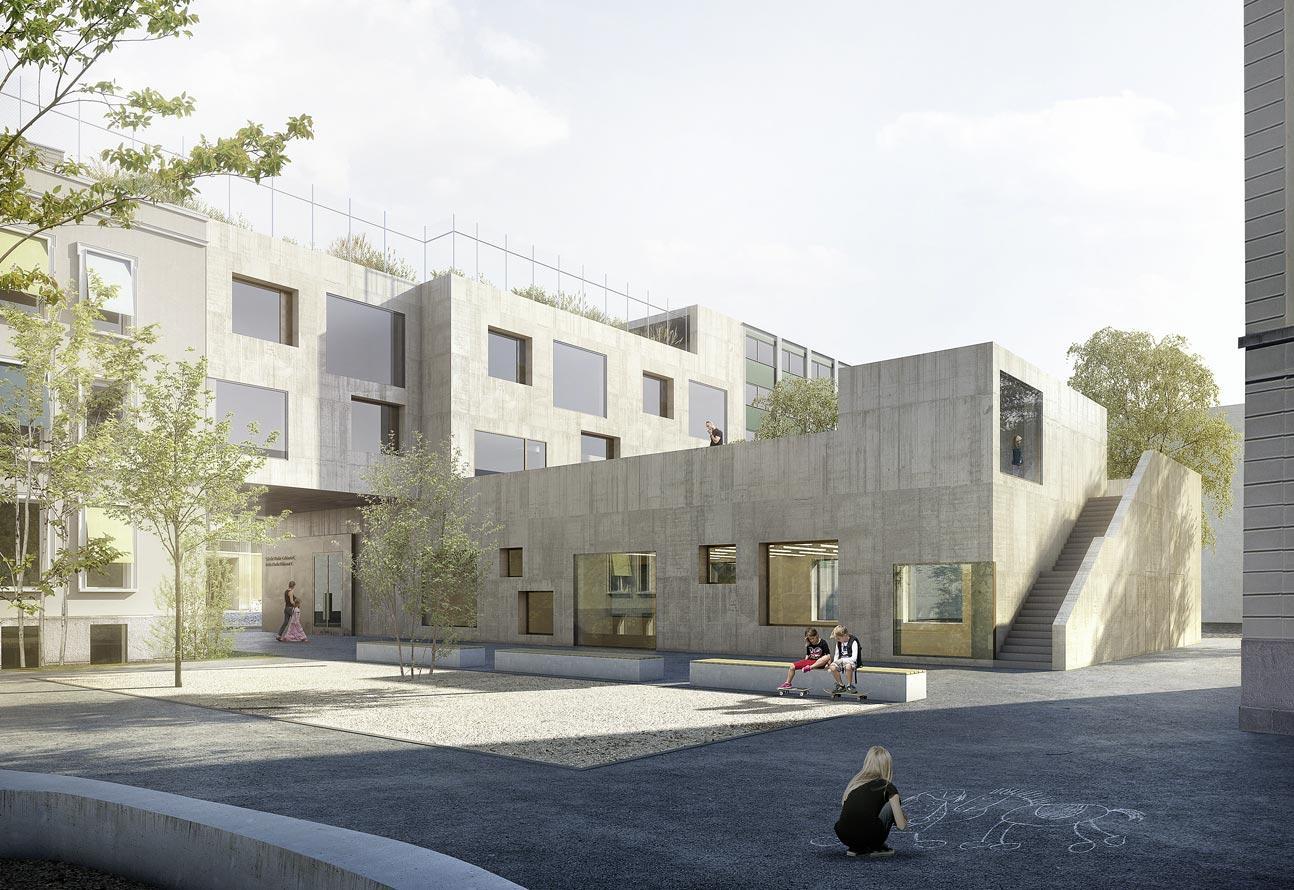 Neubau Turnhalle Plänke Biel, Niedermann Sigg Schwendener Architekten, JOSEPH