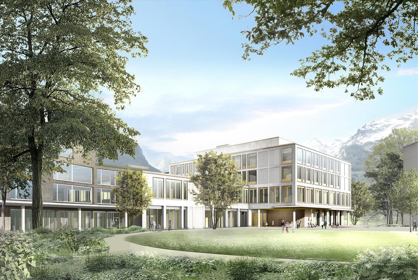 Um- und Neubau des Kantonsspitals Uri, Altdorf, Darlington Meier Architekten, GMS Partner, WILLIAM