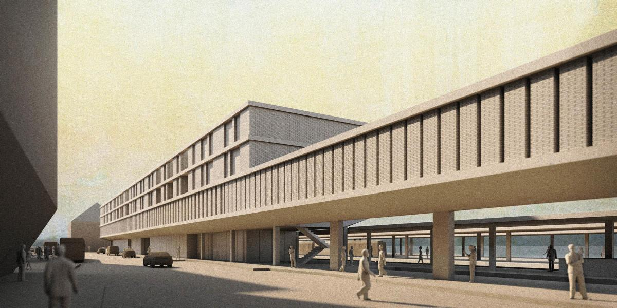 Das Siegerprojekt «Le Mur du Quai» ist eine gelungene Kombination aus städetbaulicher Setzung und architektonischem Ausdruck. (Visualisierung: Projektbeteiligte)
