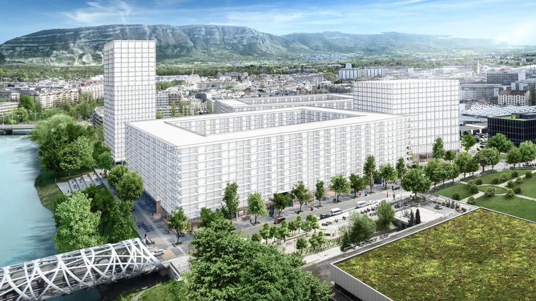 Image de synthèse du projet QUAI VERNETS (© FHV architectes - Lausanne)