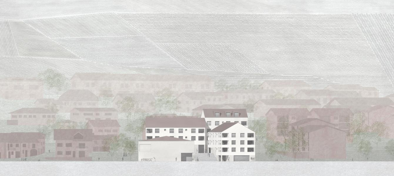 visualisation du projet «Une histoire commune» (© 2b architectes)