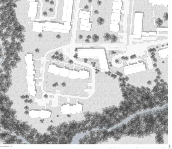 La lisière (1er rang, 1er prix): plan de situation (MAK architecture & consulting S.A.)