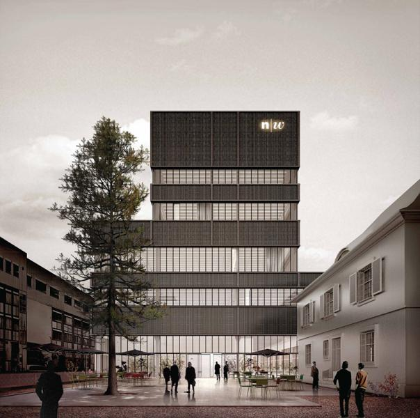 1. Rang «Ideenwerkstatt», Blick von der Reinacherstrasse (Visualisierung: Projektverfassende)