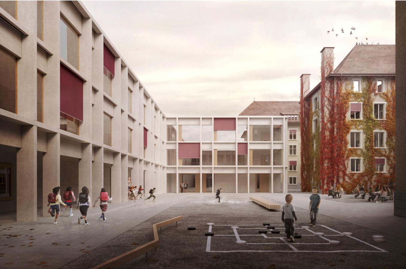 perspective du projet lauréat (© Bart & Buchhofer architectes SA)