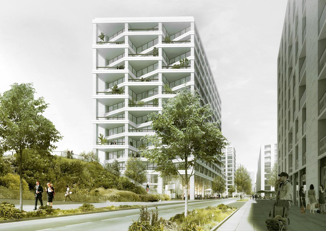 Siegerprojekt von EM2N Architekten (Visualisierung: Projektverfasser)
