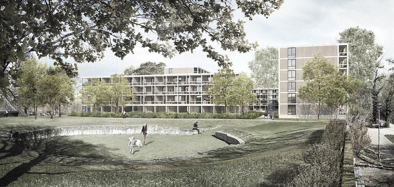 1. Rang «Milet» von Büro B Architekten (Visualisierung: Projektverfasser)