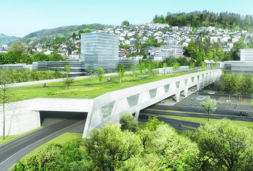 1. Rang «Viva» von der Planergemeinschaft Grosshof (Visualisierung: Projektverfasser)