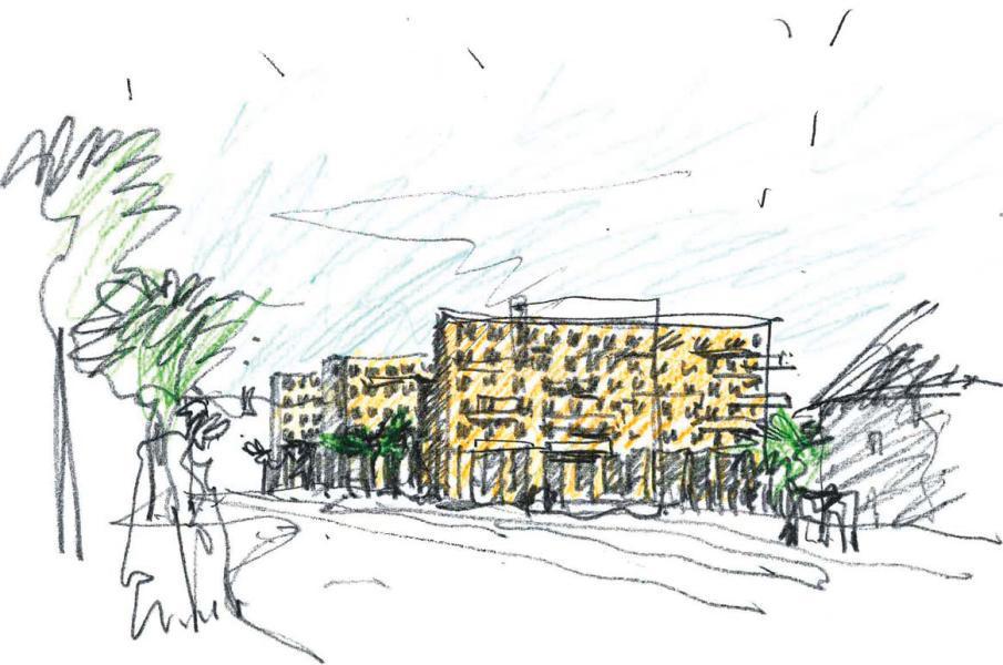 «Yona» (Pfister Schiess Tropeano&Partner Architekten). (Skizze: Projektverfasser)