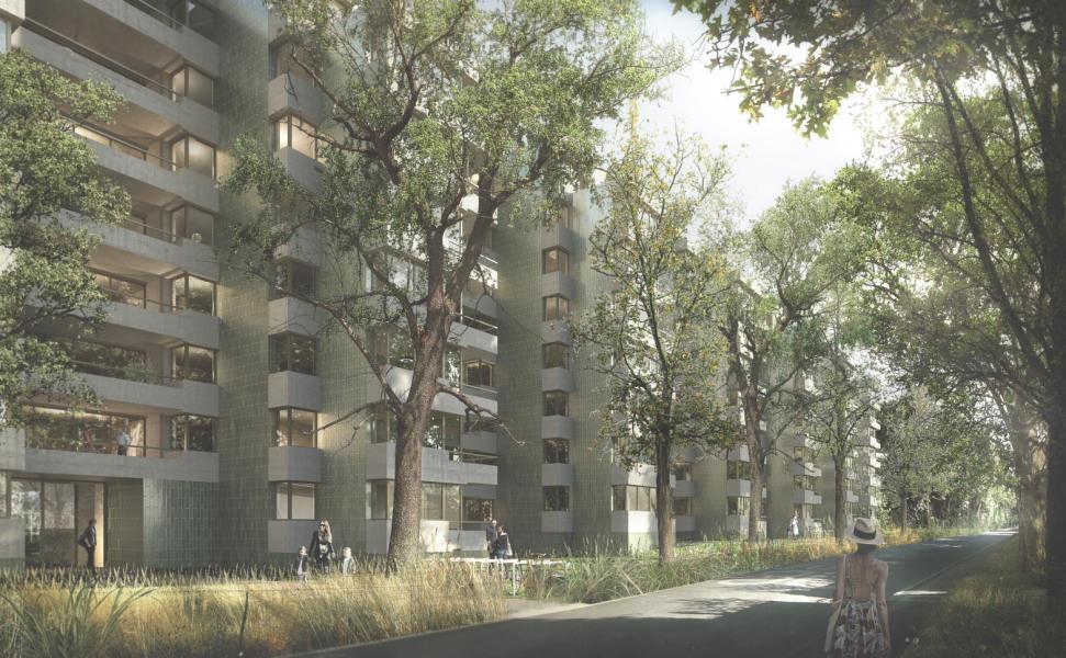 Hamadryades (1er rang, 1er prix): Visuel (Jaccaud Spicher Architectes Associés, Genève)