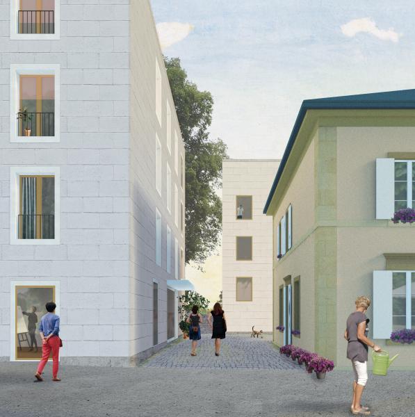 Siegerprojekt Passant et Paysage von APZ Atelier Prati Zwartbol (Visualisierung: Projektverfassende)