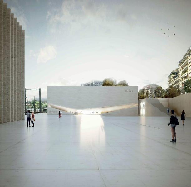 """Projet lauréat """"Un musée, deux musées"""": vue depuis l'esplanade, Aires Mateus & Associados"""