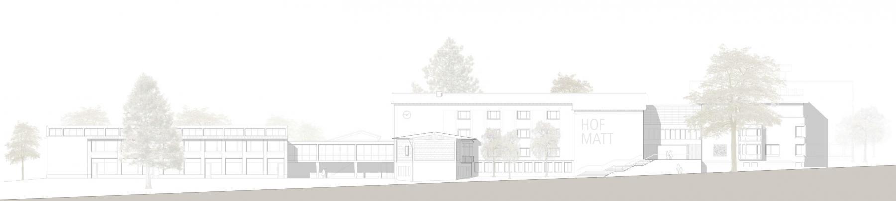 Siegerprojekt «HUGO», Ansicht West, Savioni Kuithan Architekten, Zürich (Plan: Projektverfasser)