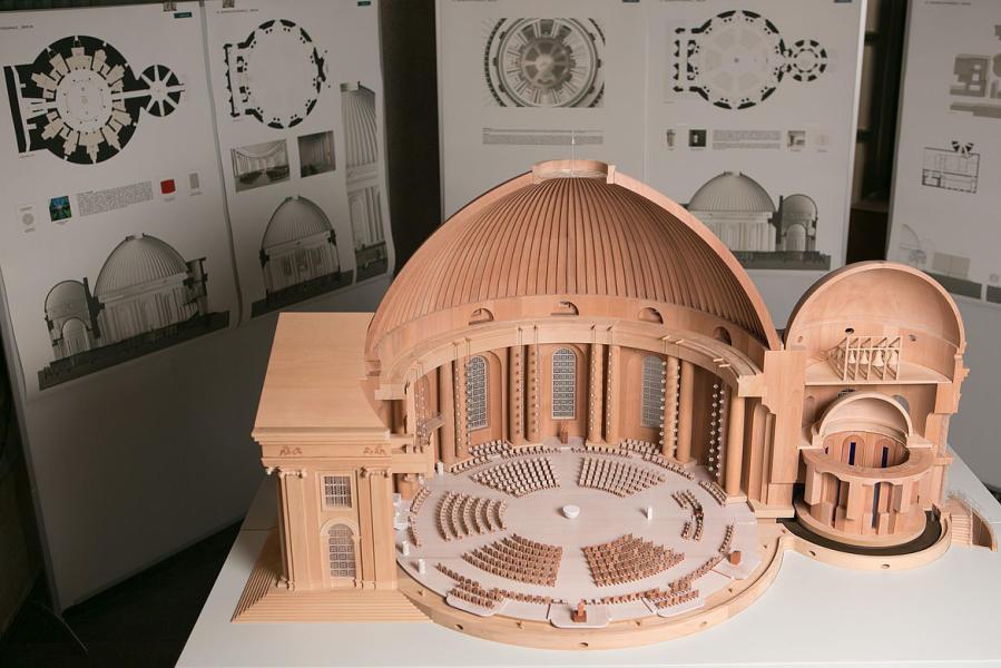 Der Siegerentwurf für die neue Innenraumgestaltung der St.-Hedwig-Kathedrale von Sichau & Walter mit Leo Zogmayer. (Foto: Walter Wetzler)