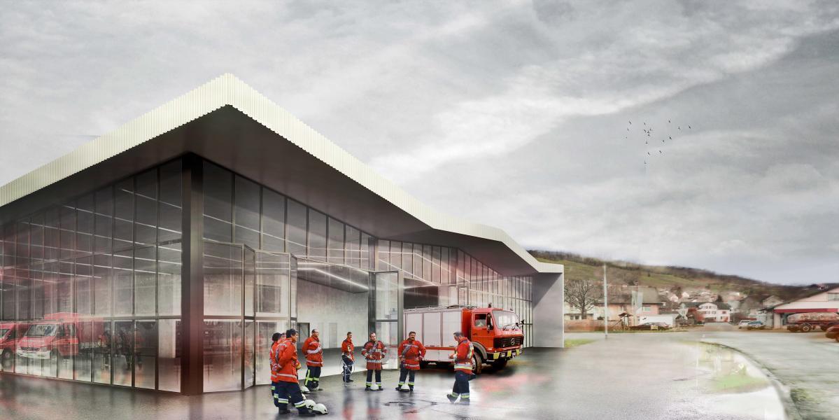 Siegerprojekt Grisu: Fassade zur Industrie (Visualisierung: Projektverfasser)