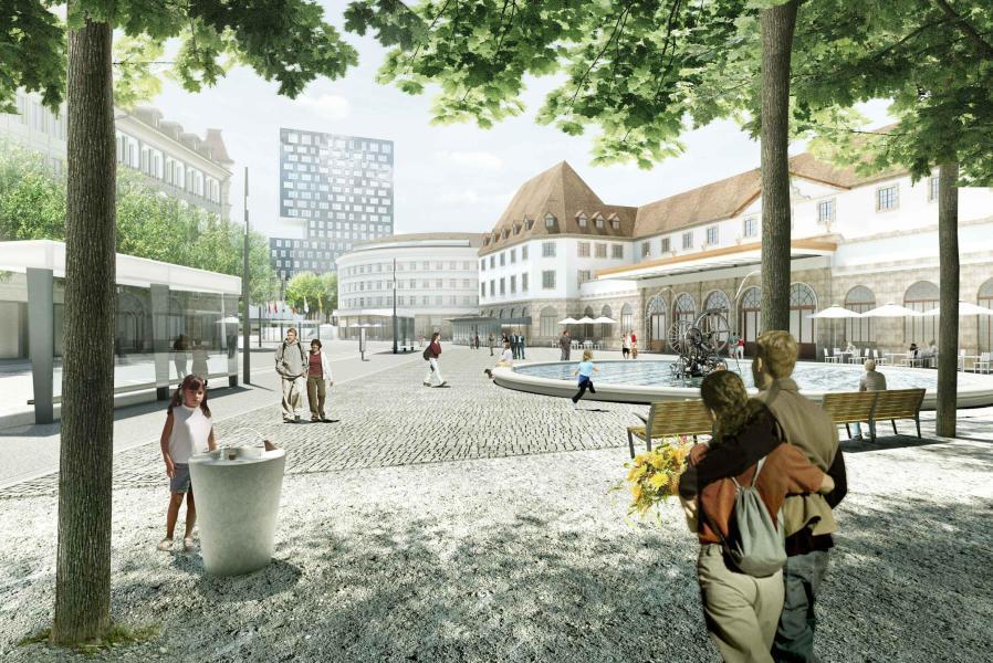 JO (1er prix, 1er rang): Place de la Gare (Source: Hager Partner)