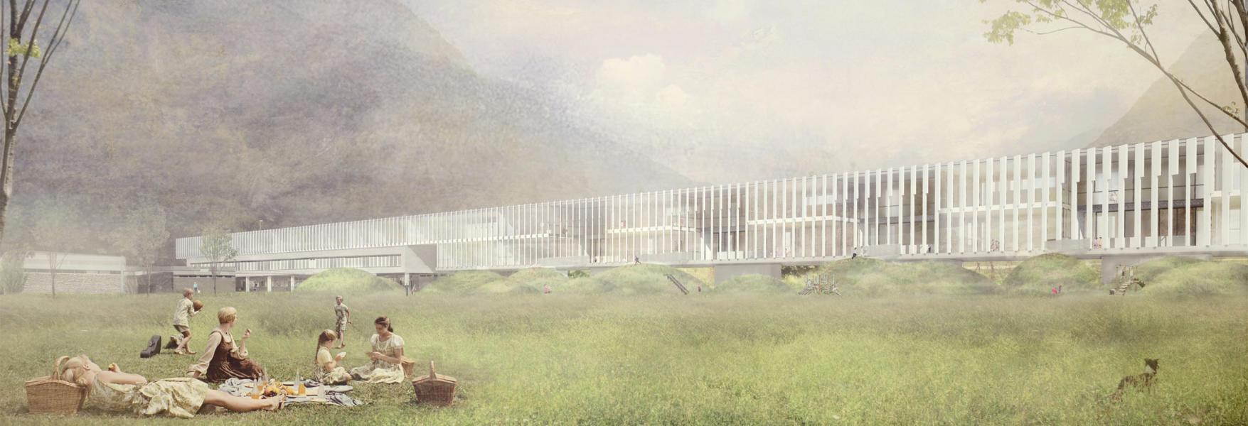 1. rango / 1. premio «Se ci fosse la luna si potrebbe cantare» (visualizzazione: Comunità di lavoro di architetti Edy Quaglia PeR architetti, c/o arch. Edy Quaglia)