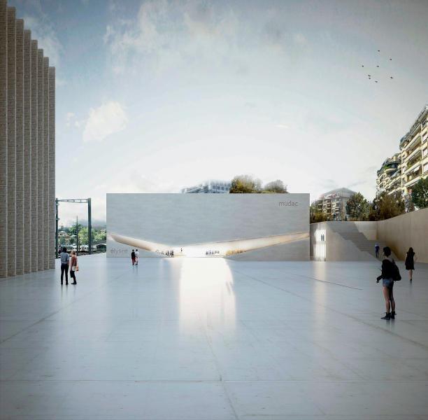Die abstrakte Eleganz der Kunst: Siegerprojekt «Un musée, deux musées». (Visualisierung: Aires Mateus & Associados)