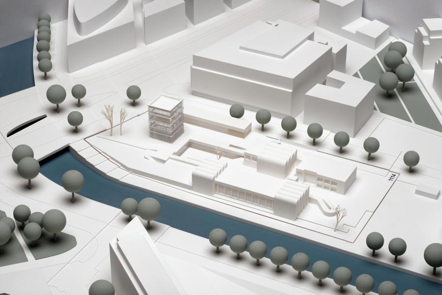 Modellfoto des Bauhaus-Archiv/Museum für Gestaltung (Entwurf Staab Architekten)