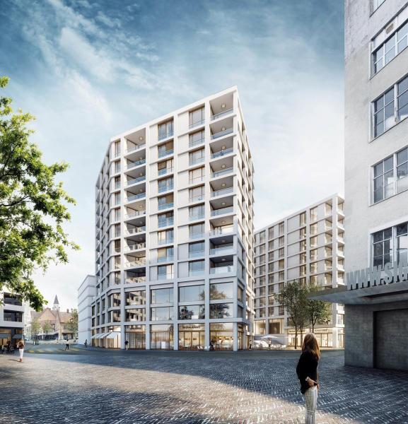 Siegerprojekt Offene Mitte von Dachtler Partner Architekten, Zürich (Visualisierung: Projektverfassende)